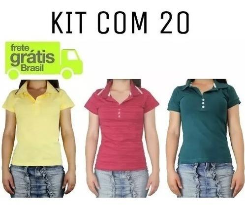 Kit 20 Camisa Polo Masculina *frete Grátis* Atacado Revenda