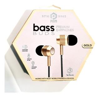 Audiofonos Pom Gear Bass Buds W/mic Gold 100% Original