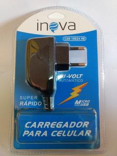 Carregador Celular Inova V-8 Bivolt Usb Original