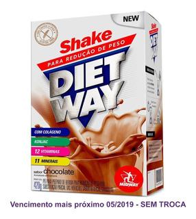 Diet Way 420g Midway Chocolate + Colágeno Vitaminas Minerais