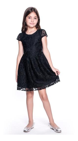 Vestido Infantil Amofany Em Renda