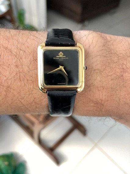 Relógio Baume & Mercier Geneve Ouro 18k E Rubi Na Coroa
