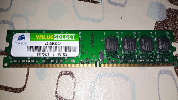 1 Gb Ram Ddr2 Corsair Value Select 667mhz Vs1gb667d2