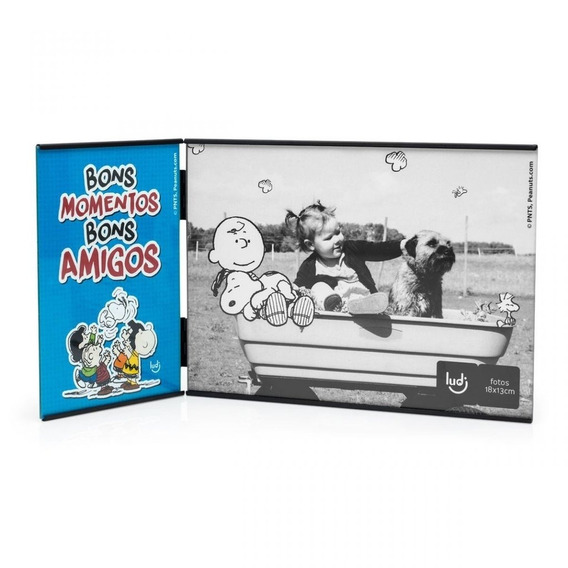 Porta Retrato Snoopy Comics Bons Amigos