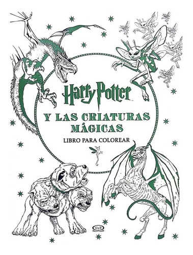 Harry Potter Criaturas Mágicas - V & R - Libro Para Colorear