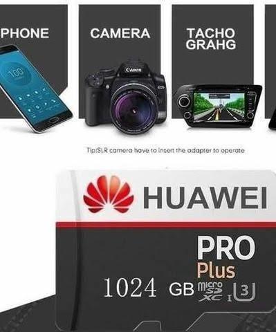 Cartão Micro Sd Huawei Pro 1024 Gb 4k U3 C10 Pronta Entrega