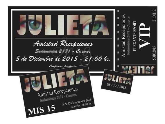 Invitaciones Tarjetas Cumpleaños Original 15 Años 24 Unid.