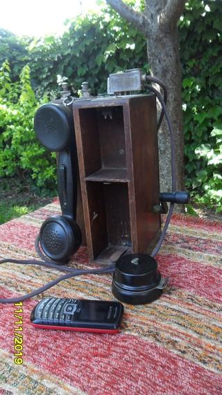 Buen Antiguo Teléfono Del Ejercito Argentino Campaña