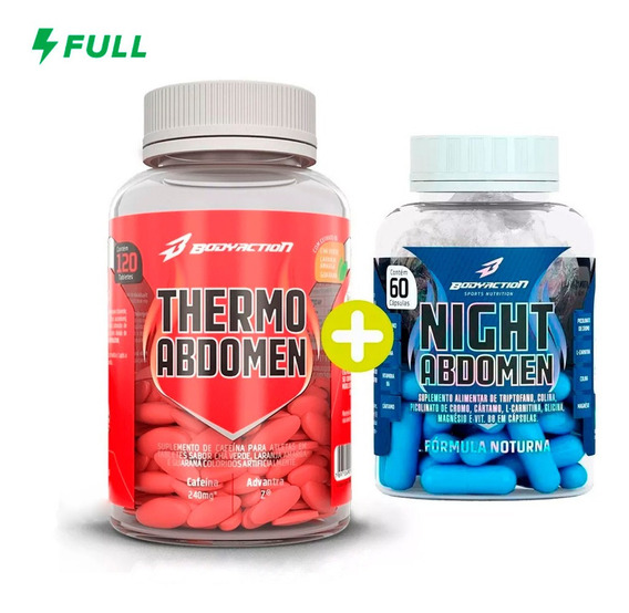 Thermo Abdomen - Diurno E Noturno - 180 Caps - Bodyaction