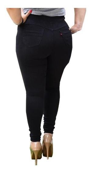 Calça Jeans Feminina Plus Size Cintura Alta 44 Ao 58 Lycra
