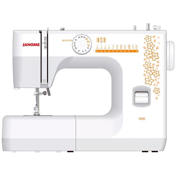 Máquina De Costura 1006 Janome - Com 6 Pontos Incluindo 1 Ca