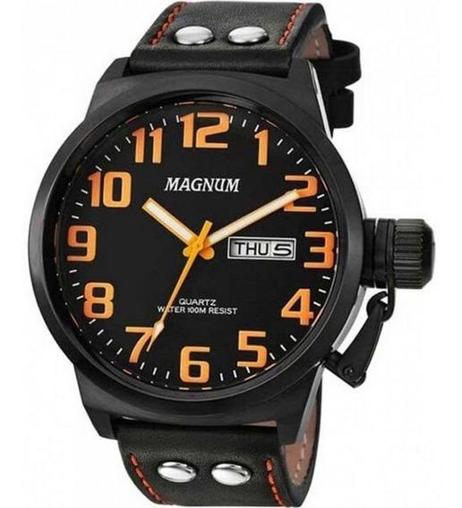 Relógio Magnum Masculino Ma32952j - Puceira De Couro