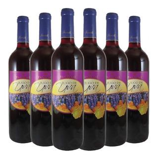 6x Jugo De Uva Tinto Fantelli - Dulce - Sin Alcohol