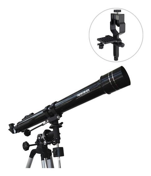 Telescópio Equatorial 900x70mm Greika + Adaptador De Câmera