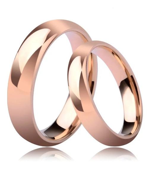Anillos Argolla Pareja Matrimonio Ilusión Compromiso Gold