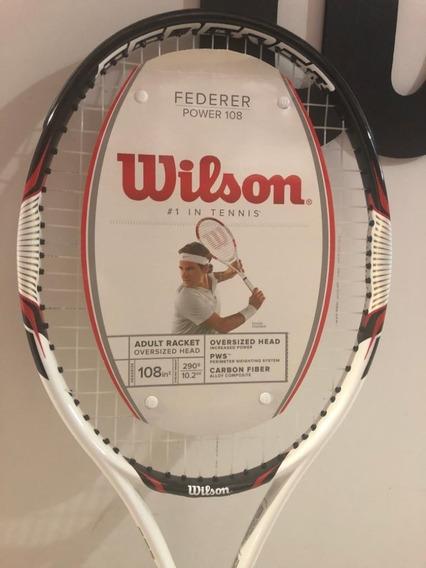Raqueta Wilson Federer Power 108 + Regalo!! Ht Belgrano
