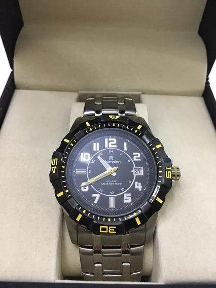 Relógio Champion Masculino Prata | Ca30285 De Vitrine