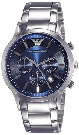 Relogio Emporio Armani Ar2448 Original Eua Azul Cronografo