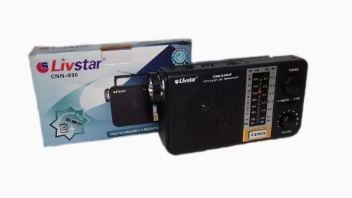 Radio Livstar Cnn-836 Receptor Am/fm/tv/sw1 Entrada Usb/sd