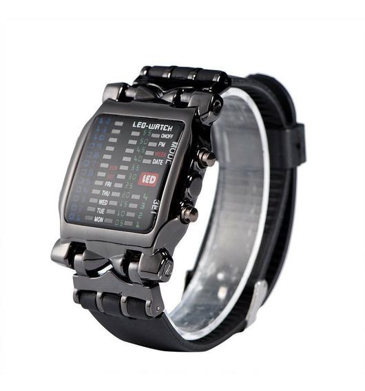 Relógio Unisex Binário Led Digital Data Casual Esporte Luxo