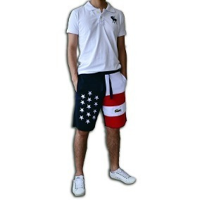 Short Bermuda Moletom Masculina Marca Eua Usa