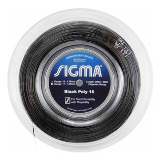Rolo De Corda Sigma Black Poly 200m 1.30mm Preta - Polyester