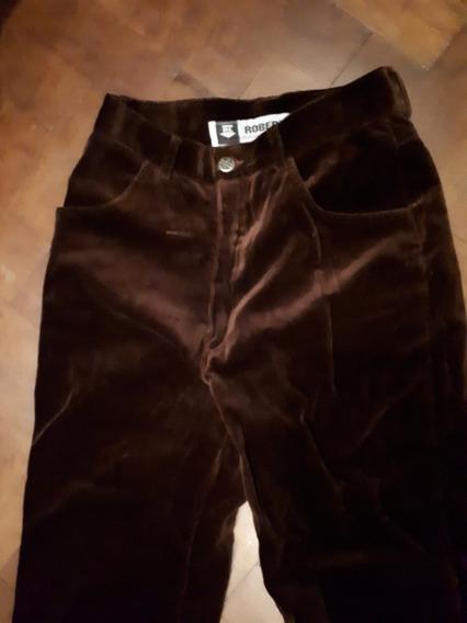 Pantalon Terciopelo Marron Robert Lewis