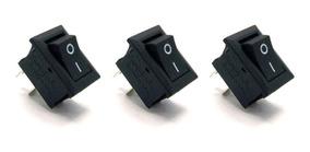 3 Chave Gangorra 2 Terminais Liga Desliga Arduino 15x20mm 6a