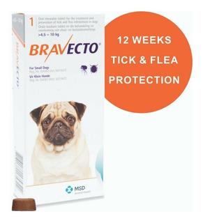 Bravecto 4.5 A 10 Kg Comprimido Palatable Pulgas 12 Semanas