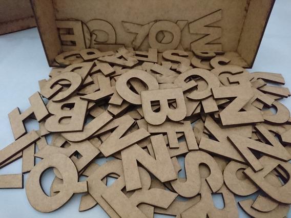 Caixa Com 43 Letras Em Mdf 3mm Cru - Pedido Cliente 230120