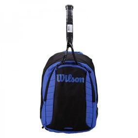 Mochila Wilson Esportiva Match Backpack Raquete Preta Azul