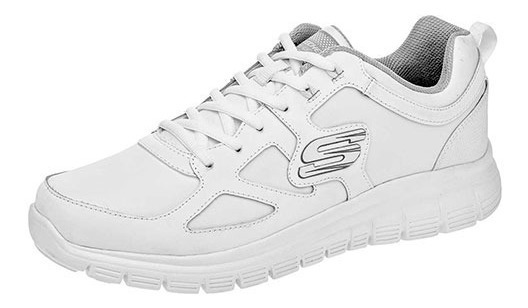 Tenis Skechers Burns Blanco Tallas De #25 A #28 Hombre