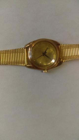 Reloj Nivada Compensamatic De Cuerda Dorado 17j Waterproof