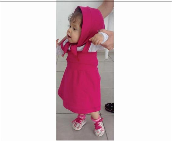 Fantasia / Roupa / Vestido Infantil Da Masha E O Urso.