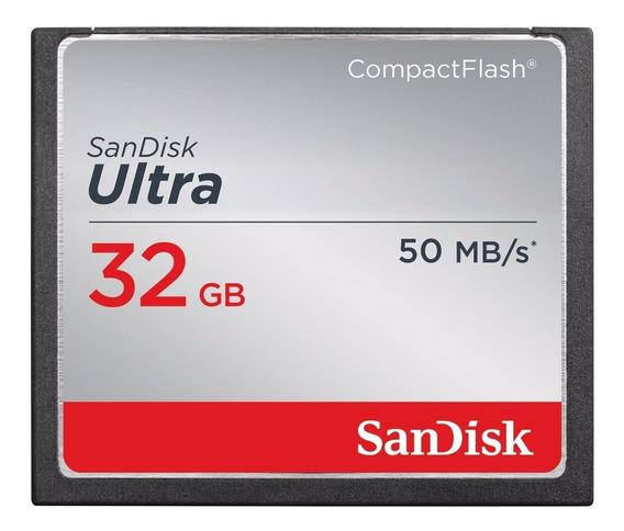 Cartão Compact Flash 32gb Sandisk Ultra De 50mb/s Sandisk