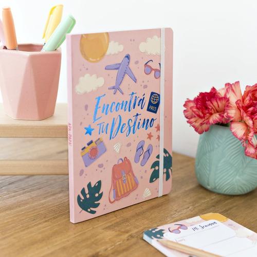 Cuaderno Rayado 64 Estampado Viajes