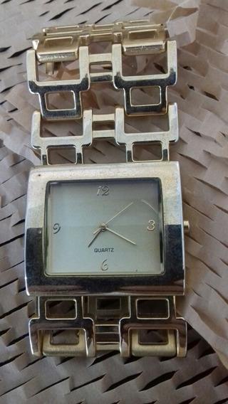 Relógio Quartz De Pulso, Feminino, Dourado, Cod. 00360