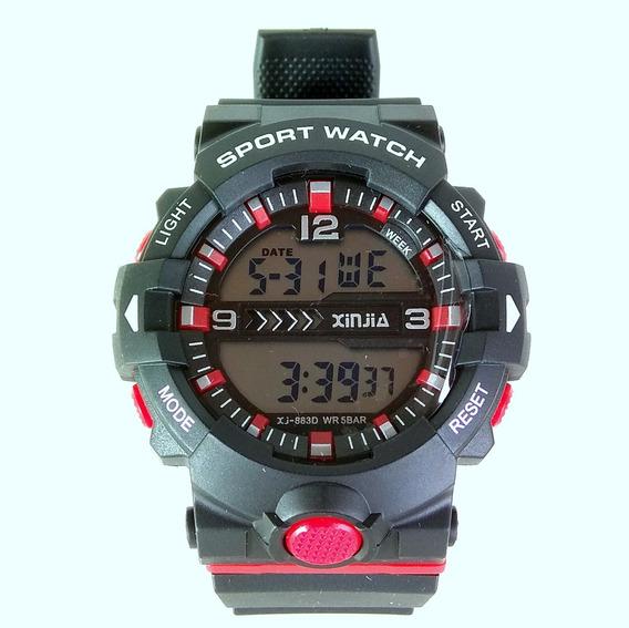 Relógio Digital Masculino Militar Esportivo Shock Camping!