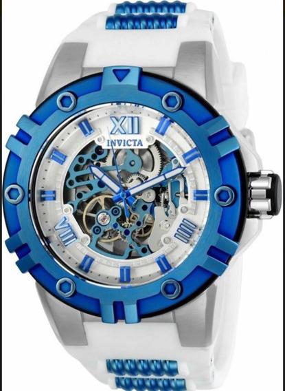 Relógio Suíço Invicta Branco E Azul