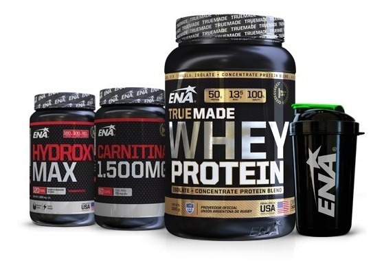 Combo Burn Proteína + Carnitina + Hydroxy + Shaker Ena Sport