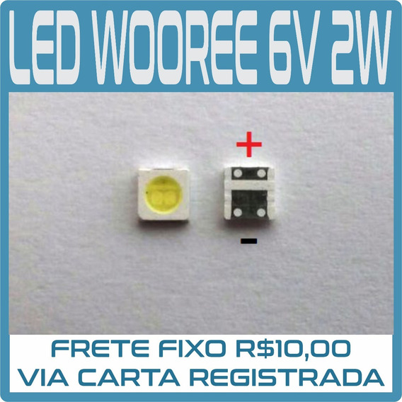 Kit 20 Led 3535 Wooree 6v 2w Tv Lg, 32lb550, 32lb560, Sharp