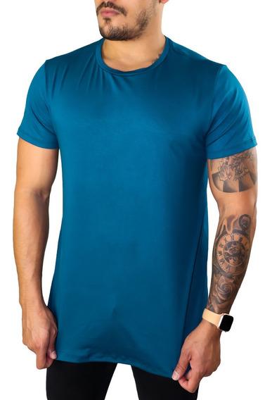 T Shirt Masculina Longline Blusa Camisa Casual Moda Masc Top
