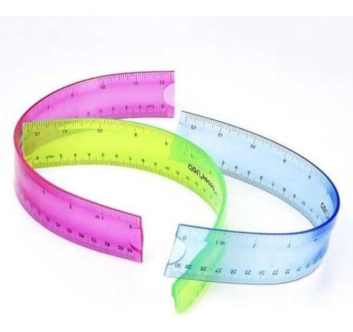 Regla Plástica | Flexible | Deli | 30 Cm