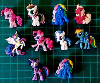 Mi Pequeño Pony Jibbitz Pins Crocs 4 + 2 De Regalo