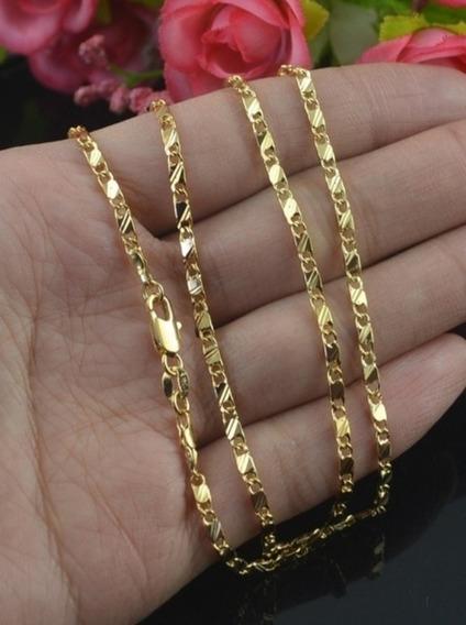 Corrente Cordão Unissex Dourado Promoção Limitada
