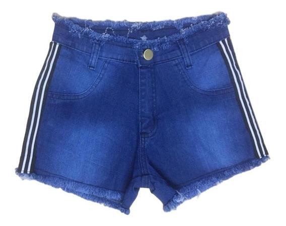 05 Short Jeans Feminino Cós Alto Lycra Roupas Atacado