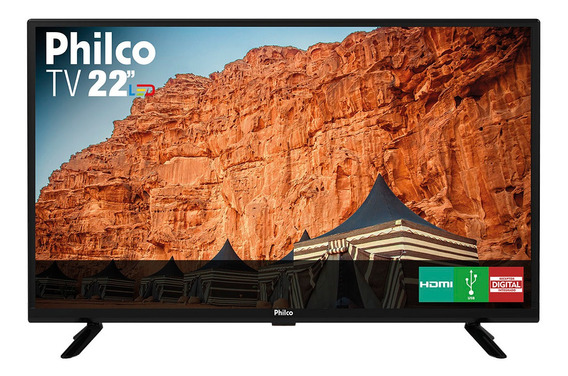 Tv Para Presidio Philco 22´ Full Hd 2 Hdmi 1 Usb - Ptv22g50d