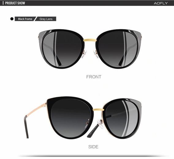 Óculos De Sol Feminino Lente Polarizada Aofly Original