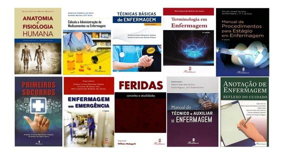 Kit De Livros Enfermagem, Medicina E Anatomia Universitários