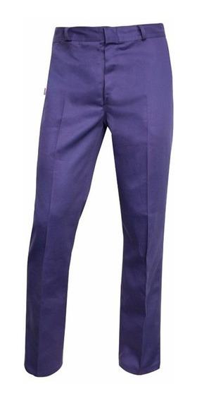 Pantalón De Trabajo Azul Marino Triple Costura Grafa 70 Hom.